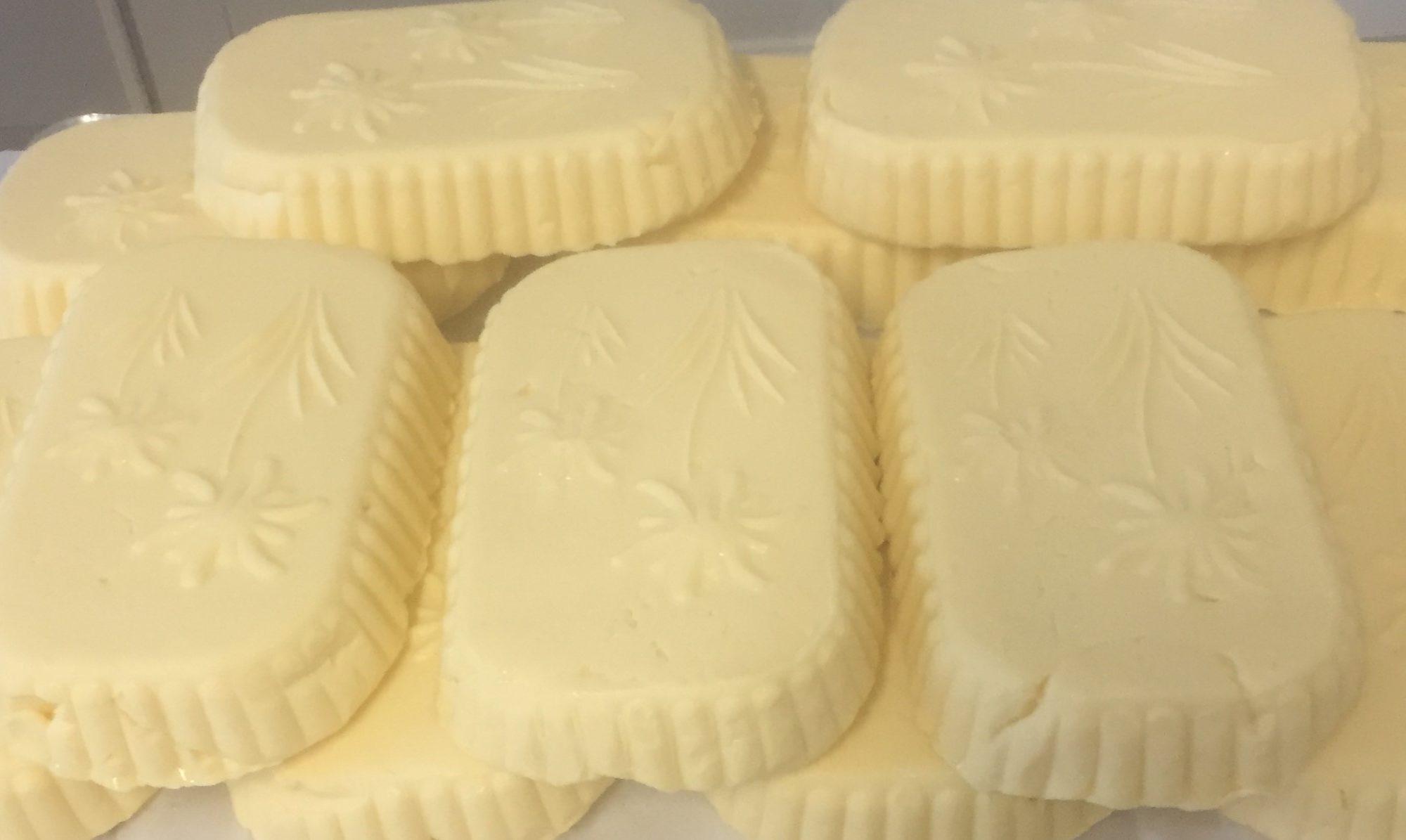 Beurre moulé avec des motifs de Marguerite